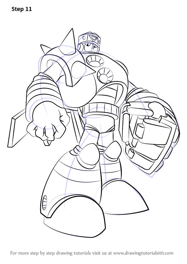 learn how to draw duo from mega man  mega man  step by