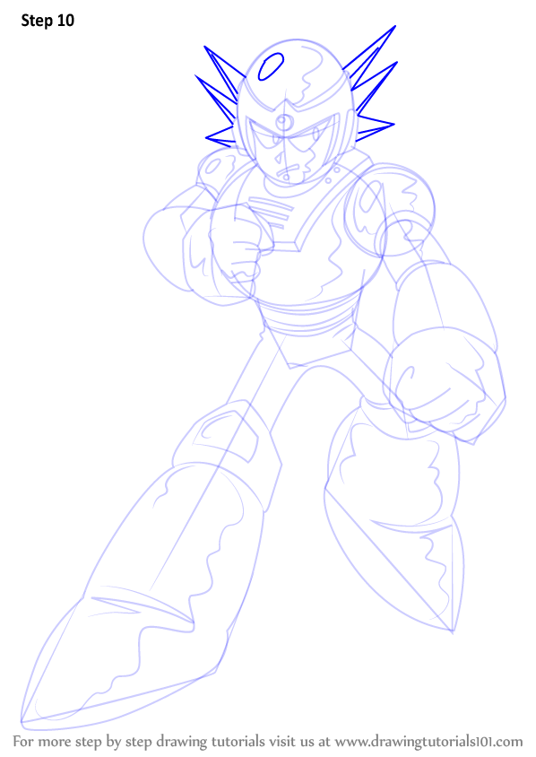 learn how to draw mercury from mega man mega man step by