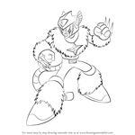 How to Draw Pluto from Mega Man