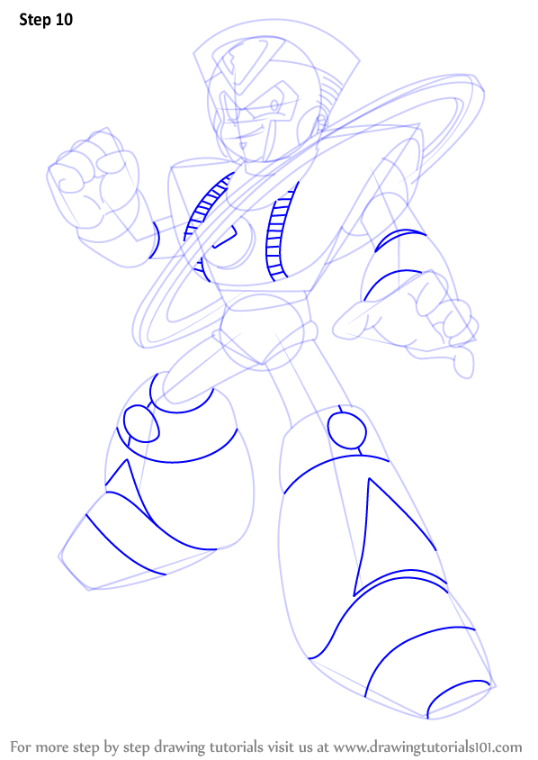 Learn How To Draw Saturn From Mega Man Mega Man Step By