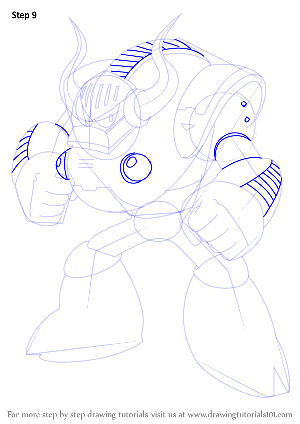 Learn How to Draw Uranus from Mega Man (Mega Man) Step by ...