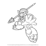 How to Draw Yamato Man from Mega Man