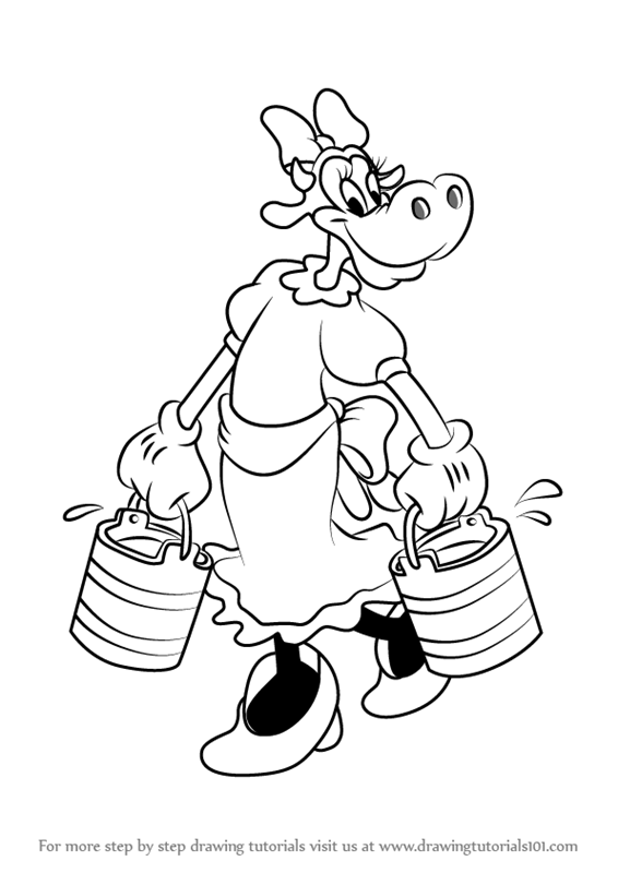 Learn How To Draw Clarabelle Cow From Mickey Mouse