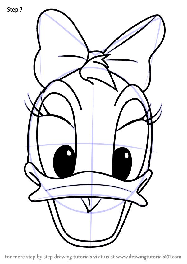 Learn How to Draw Daisy Duck Face from Mickey Mouse