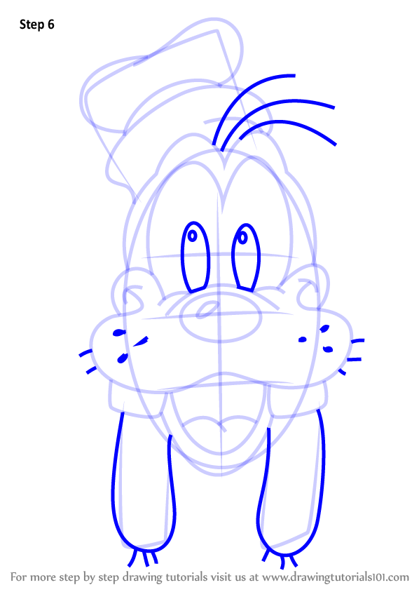learn how to draw goofy face from mickey mouse clubhouse
