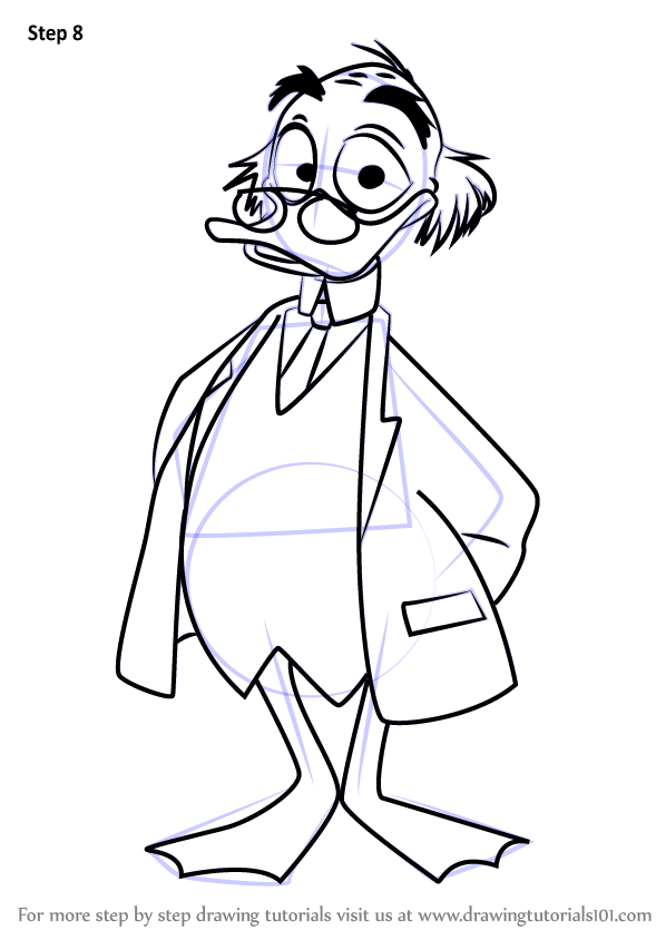 learn how to draw ludwig von drake from mickey mouse