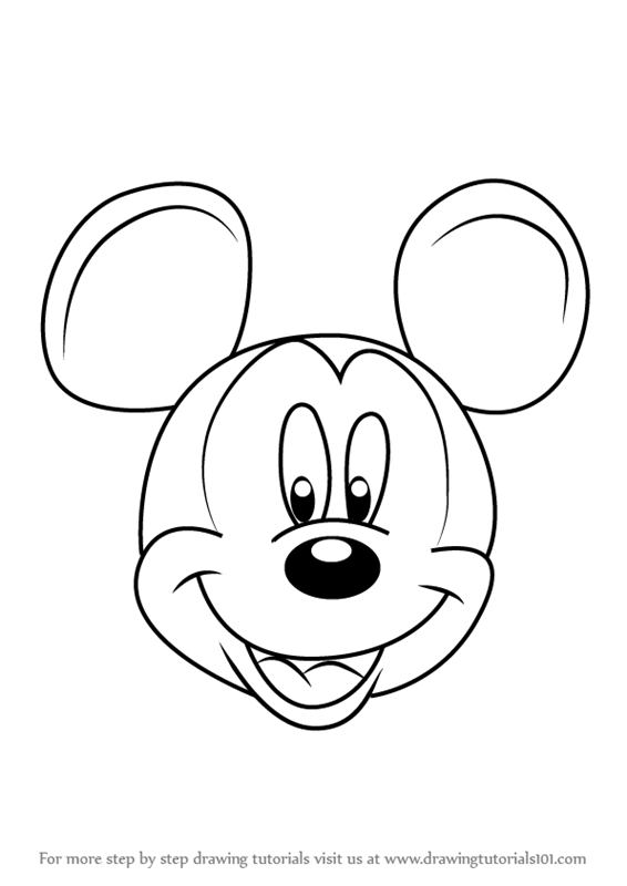 Learn How to Draw Mickey Mouse Face from Mickey Mouse ...