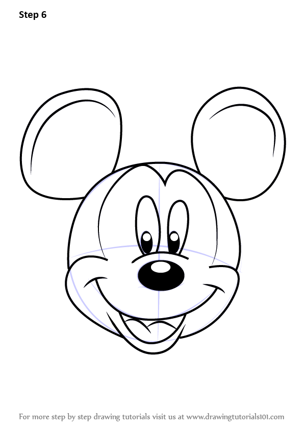 Learn How to Draw Mickey Mouse Face from Mickey Mouse ... | 596 x 842 png 51kB