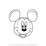 How to Draw Mickey Mouse Face from Mickey Mouse Clubhouse