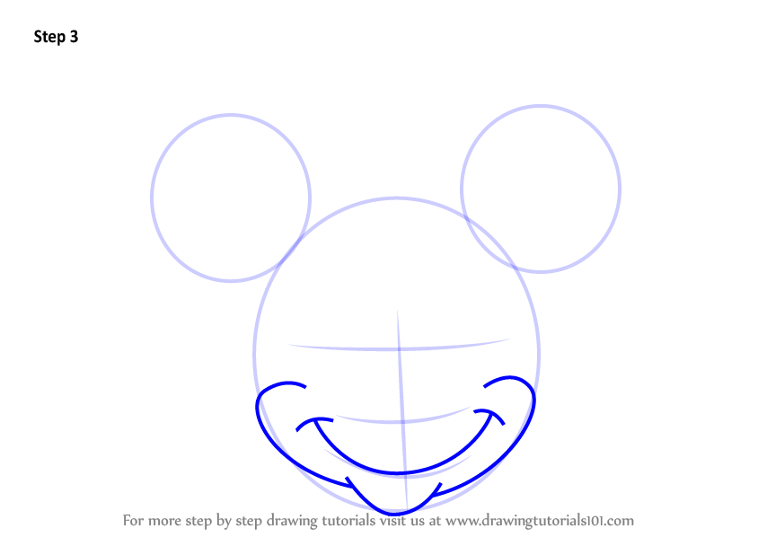 Learn How to Draw Minnie Mouse Face from Mickey Mouse ...