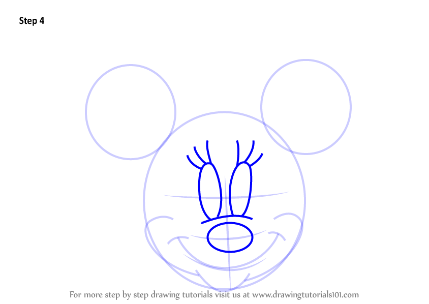 minnie mouse face drawings for