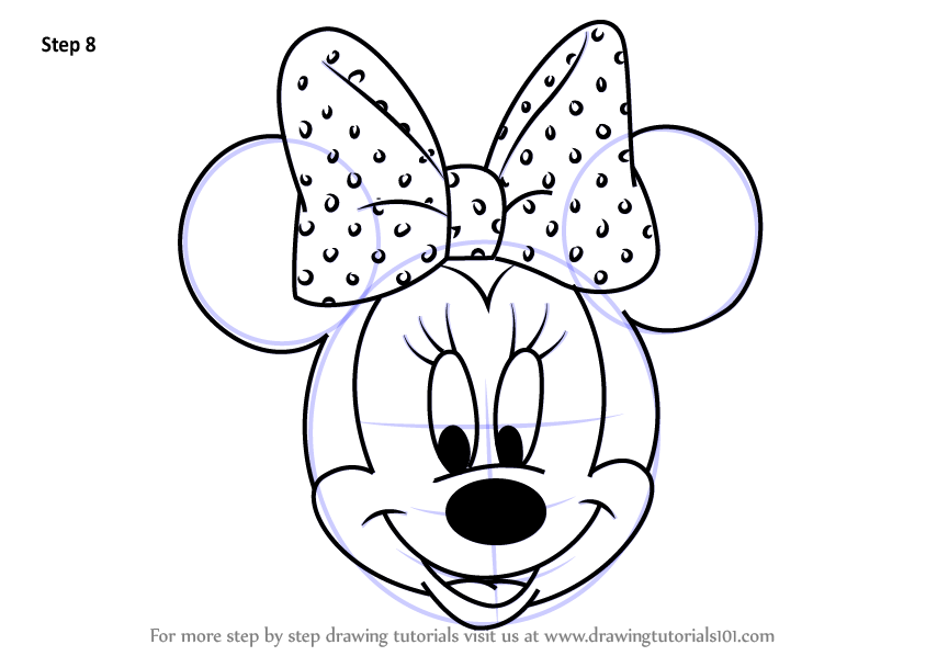 Minnie mouse drawing pages