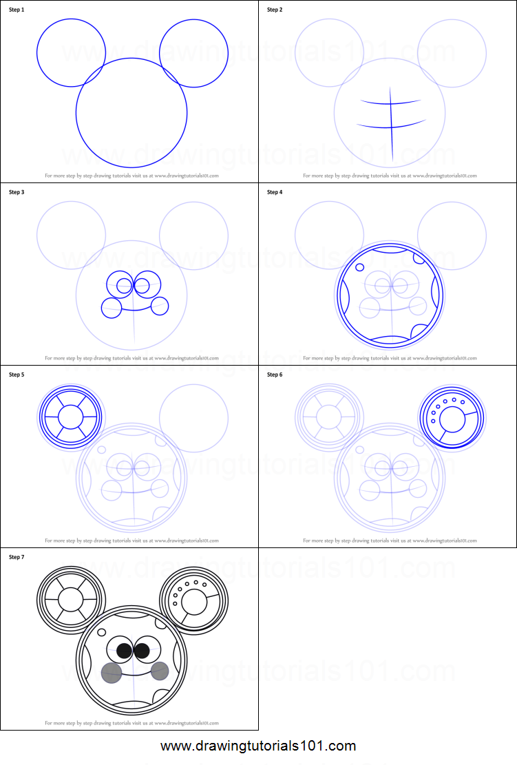 How to Draw Toodles from Mickey Mouse Clubhouse printable