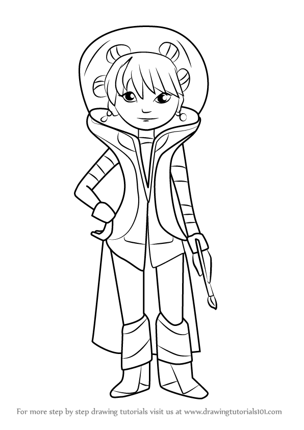 Learn How to Draw Frida from Miles from Tomorrowland Miles from Tomorrowland Step by Step