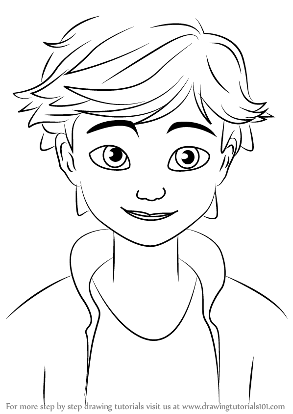 Learn How To Draw Adrien Agreste From Miraculous Ladybug