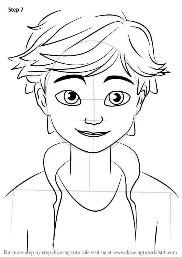 Step by Step How to Draw Adrien