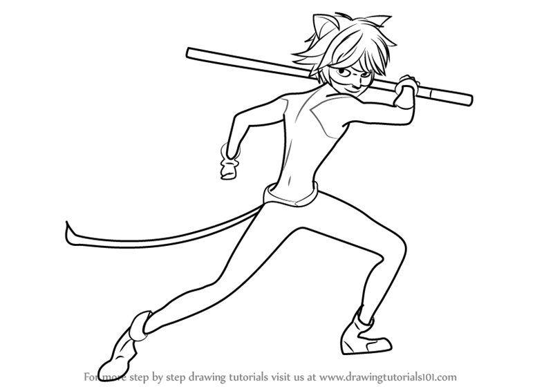 Learn How to Draw Cat Noir from Miraculous Ladybug ...