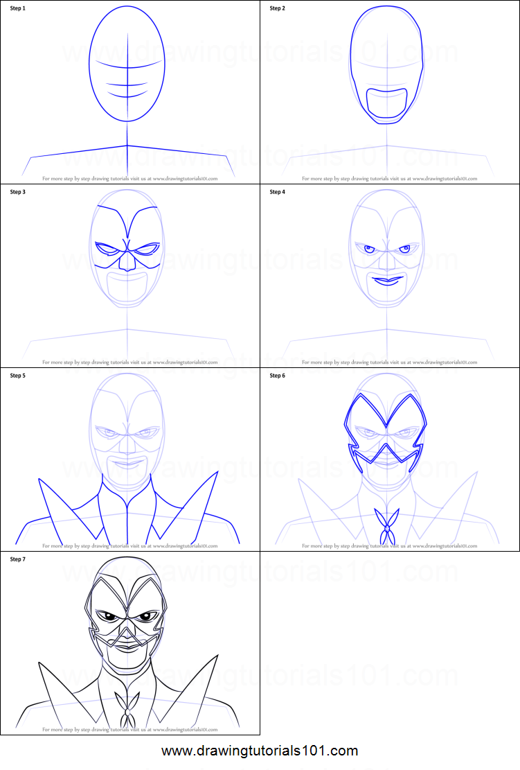 how to draw hawk moth from miraculous ladybug printable
