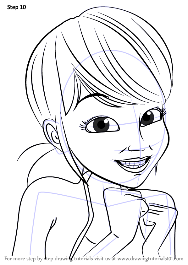 Learn How To Draw Marinette Dupain Cheng From Miraculous