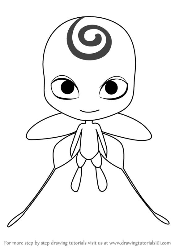How To Draw Nooroo Kwami From Miraculous Ladybug