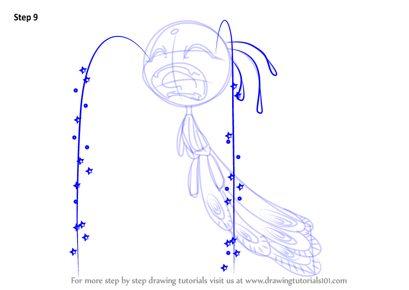 Learn How To Draw Peacock Kwami From Miraculous Ladybug
