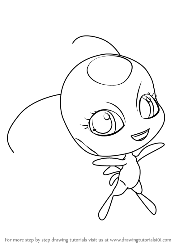 How To Draw Tikki Kwami From Miraculous Ladybug