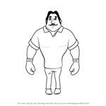How to Draw Boxer from Motu Patlu