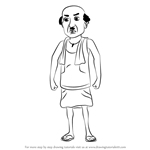How to Draw Chaiwala from Motu Patlu