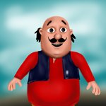 How to Draw Motu from Motu Patlu