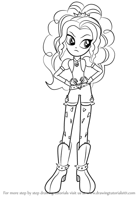 My Little Pony Adagio Dazzle Coloring Pages : Adagio dazzle coloring pages