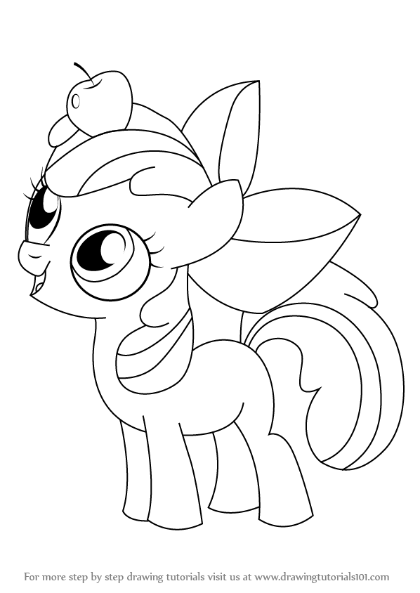 learn how to draw apple bloom from my little pony friendship is