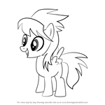 How to Draw Cloud Chaser from My Little Pony - Friendship Is Magic