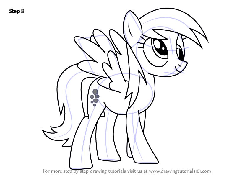 My Little Pony Derpy Coloring Pages : Step by how to draw derpy hooves from my little pony