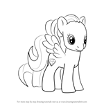 How to Draw Diamond Rose from My Little Pony - Friendship Is Magic