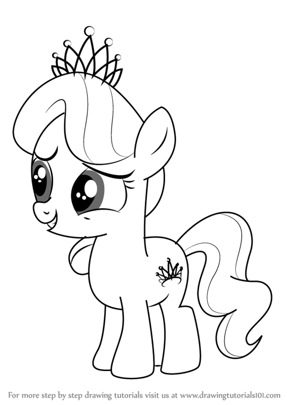 Learn How To Draw Diamond Tiara From My Little Pony Friendship Is Magic Step By Drawing Tutorials