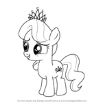 How to Draw Diamond Tiara from My Little Pony - Friendship Is Magic