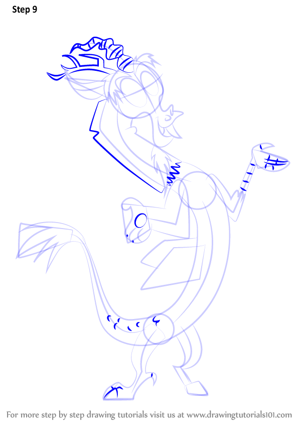 Step By Step How To Draw Discord From My Little Pony