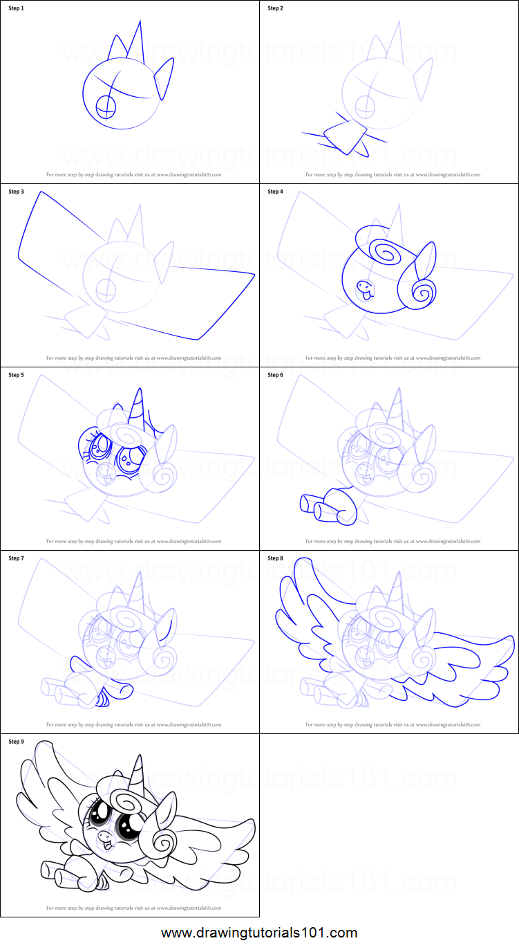 how to draw flurry heart from my little pony friendship is magic