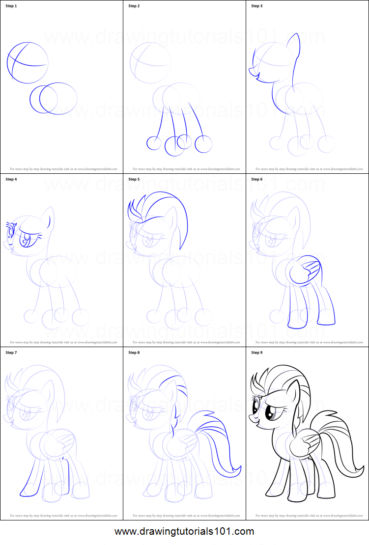 My Little Pony Lightning Dust Coloring Pages : How to draw lightning dust from my little pony