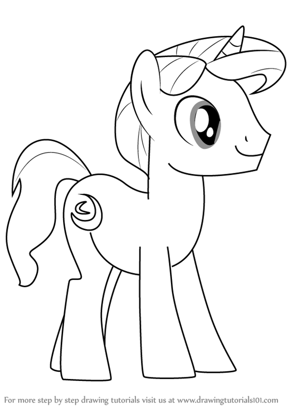 how to draw a pony from my little pony