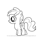How to Draw Peachy Pie from My Little Pony - Friendship Is Magic