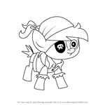 How to Draw Pirate Pipsqueak from My Little Pony - Friendship Is Magic