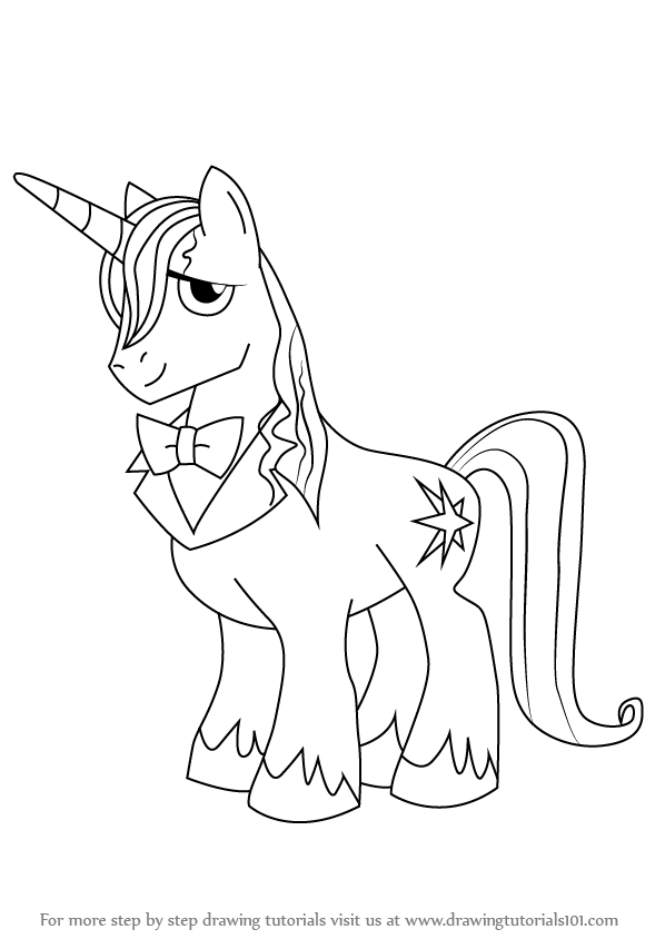 how to draw a real pony step-by-step