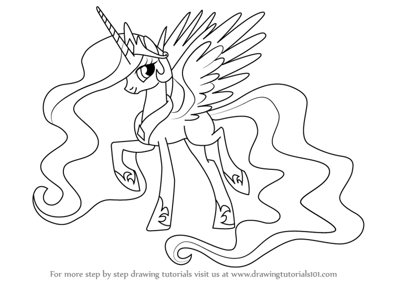 Youutube Kleurplaat Learn How To Draw Princess Celestia From My Little Pony