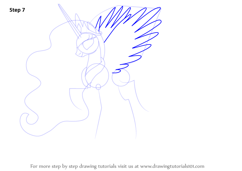 learn how to draw princess celestia from my little pony friendship is magic my little pony friendship is magic step by step drawing tutorials