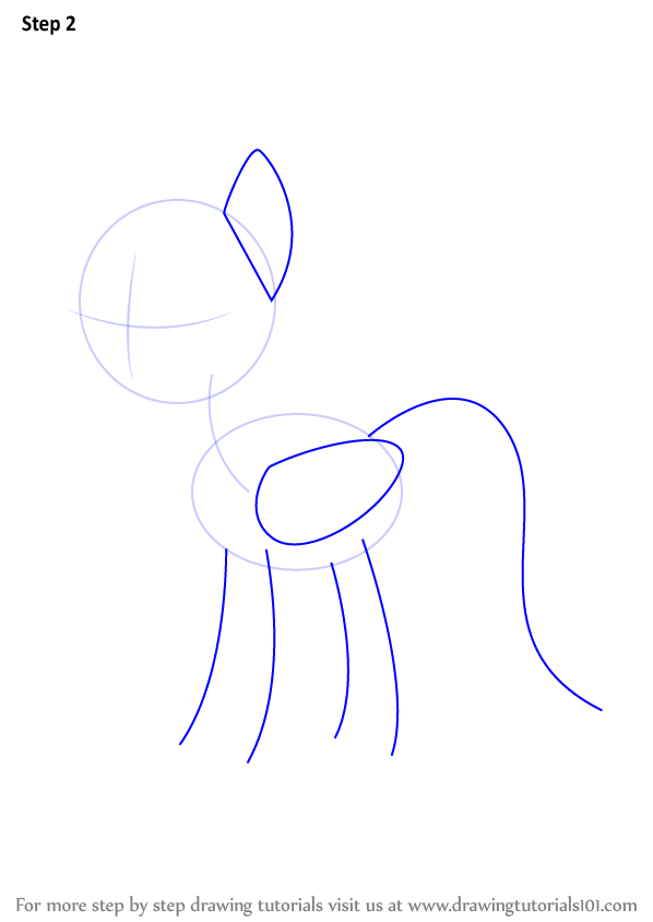 step by step how to draw rainbow dash from my little pony