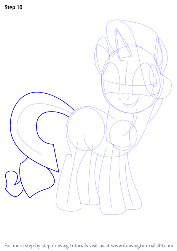 How To Draw Rarity Step By Step Easy