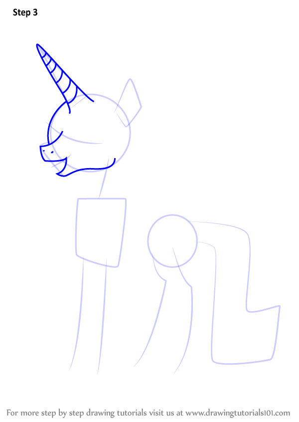 Step By Step How To Draw Sassy Saddles From My Little Pony