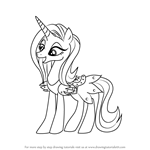 How to Draw Sassy Saddles from My Little Pony - Friendship Is Magic