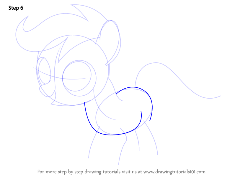 how to draw a pony body
